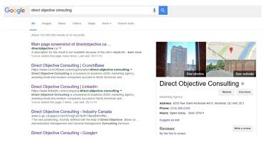 Google Knowledge Graph Direct Objective Consulting